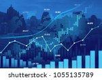 stock market or forex trading... | Shutterstock . vector #1055135789