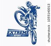 moto track or motocross jump... | Shutterstock .eps vector #1055140013