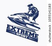 Jet Ski Sports Logo Vector