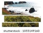 scenic beach overlook art high... | Shutterstock . vector #1055149160