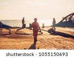 anchor handling tug supply ahts ... | Shutterstock . vector #1055150693