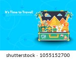 welcome to egypt.it s time to... | Shutterstock .eps vector #1055152700