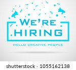 we are hiring poster for staff... | Shutterstock .eps vector #1055162138