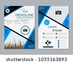 modern geometric style business ... | Shutterstock .eps vector #1055163893