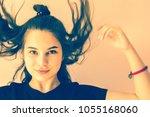 carelessness  fun  no problems. ...   Shutterstock . vector #1055168060