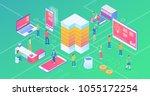ultra hd resolution technology...   Shutterstock .eps vector #1055172254