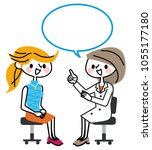 patient and female doctor. | Shutterstock .eps vector #1055177180