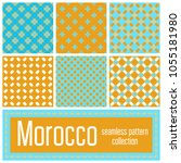 set of 6 morocco patterns... | Shutterstock .eps vector #1055181980