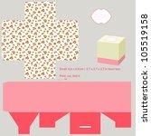 box template. roses pattern.... | Shutterstock .eps vector #105519158