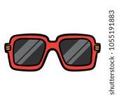 cartoon cool sunglasses   Shutterstock .eps vector #1055191883