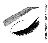 illustration with woman's eye... | Shutterstock .eps vector #1055191964