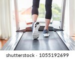 close up leg in sport shoes...   Shutterstock . vector #1055192699
