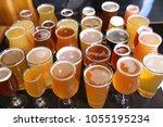 assorted craft beer varieties | Shutterstock . vector #1055195234