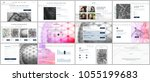 set of vector templates for... | Shutterstock .eps vector #1055199683
