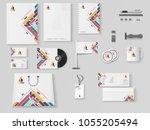 corporate identity.... | Shutterstock .eps vector #1055205494
