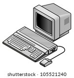 an old vintage retro 8 bit... | Shutterstock .eps vector #105521240