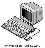 an old vintage retro 8 bit... | Shutterstock .eps vector #105521240