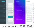 roadmap set. lines  arrows ...   Shutterstock .eps vector #1055213969