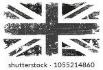 grunge uk flag.vector british... | Shutterstock .eps vector #1055214860