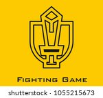 fighting game vector icon