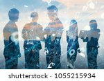 business and technology concept.... | Shutterstock . vector #1055215934