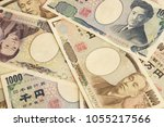 Small photo of Japanese bank notes.10000 yen bills and 5,000 yen bills and 1,000 yen bills.
