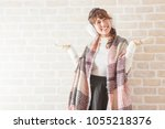 young japanese woman portrait | Shutterstock . vector #1055218376