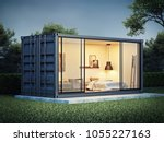 container house exterior  3d...