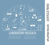 chemical laboratory template.... | Shutterstock .eps vector #1055227850