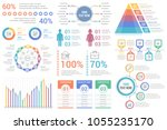 infographic elements   percents ... | Shutterstock .eps vector #1055235170