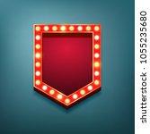 retro vintage light bulbs frame....   Shutterstock .eps vector #1055235680