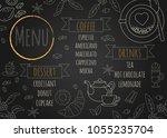 coffee restaurant brochure... | Shutterstock .eps vector #1055235704