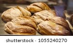 shell shaped pastry ... | Shutterstock . vector #1055240270