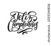feliz cumpleanos translated... | Shutterstock .eps vector #1055244836