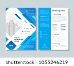 annual report  broshure  flyer  ... | Shutterstock .eps vector #1055246219