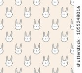 seamless pattern  rabbit art ...   Shutterstock .eps vector #1055248016