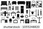 furniture icon set | Shutterstock .eps vector #1055248820