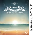 heaven is closer than you think ...   Shutterstock .eps vector #105524999
