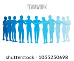 working together as teamwork   Shutterstock .eps vector #1055250698
