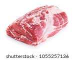 fresh raw pork neck meat... | Shutterstock . vector #1055257136