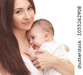 portrait of mother and her...   Shutterstock . vector #1055262908