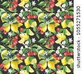 seamless pattern with hand...   Shutterstock . vector #1055271530