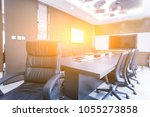 meeting room in modern style... | Shutterstock . vector #1055273858