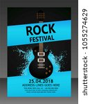 music flyer   template   | Shutterstock .eps vector #1055274629