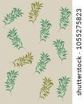 leaves pattern. vector black... | Shutterstock .eps vector #1055275823