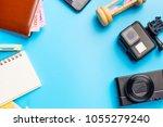 travel accessories costumes... | Shutterstock . vector #1055279240