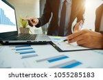 business partners meeting... | Shutterstock . vector #1055285183
