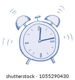 hand shaded illustration of an... | Shutterstock .eps vector #1055290430