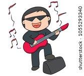 vector of musician | Shutterstock .eps vector #1055293340