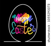 happy easter colorful lettering ... | Shutterstock .eps vector #1055293373